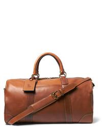 Bolsa de viaje de cuero marrón de Polo Ralph Lauren