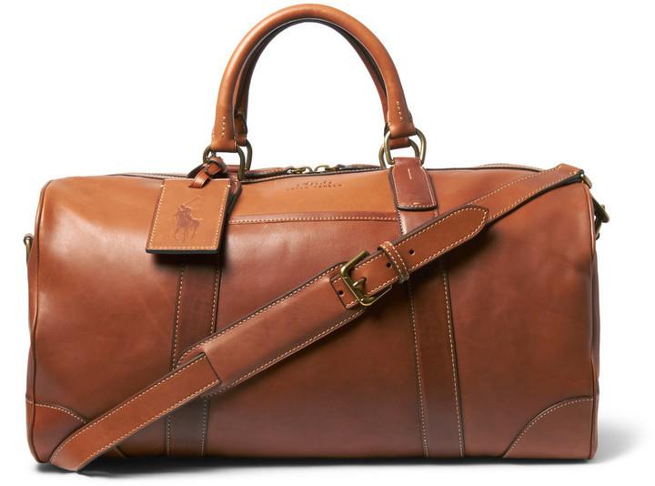 a422d98555 Bolsa de viaje de cuero marrón de Polo Ralph Lauren, €628 | MR ...