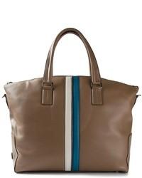 Bolsa de viaje de cuero marrón de Tod's