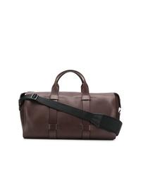 Bolsa de viaje de cuero marrón de Troubadour