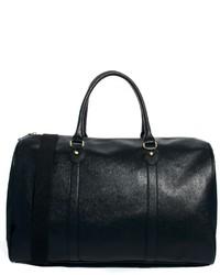 Bolsa de viaje de cuero negra de Asos