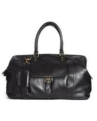 Bolsa de viaje de cuero negra de Barney's Originals