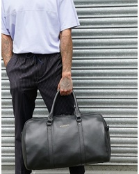 Bolsa de viaje de cuero negra de Bolongaro Trevor