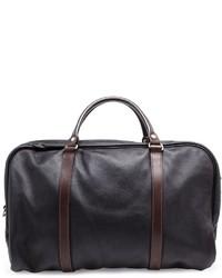 Bolsa de viaje de cuero negra