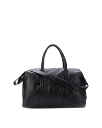 Bolsa de viaje de cuero negra de Maison Margiela