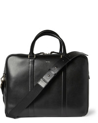 Bolsa de viaje de cuero negra de Paul Smith