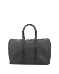 Bolsa de viaje de cuero negra de Thom Browne