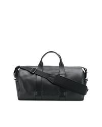 Bolsa de viaje de cuero negra de Troubadour