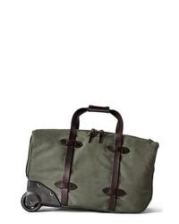 Bolsa de viaje de cuero verde oliva