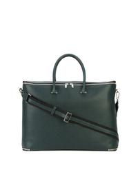 Bolsa de viaje de cuero verde oscuro de Valextra
