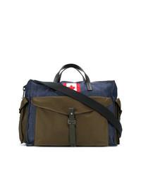 Bolsa de viaje de lona azul marino de DSQUARED2