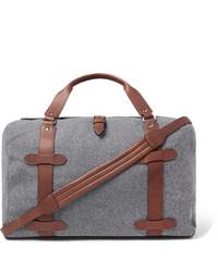 Bolsa de viaje de lona gris
