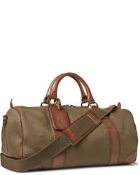 a106b7f6f75 ... Bolsa de viaje de lona marrón de Polo Ralph Lauren ...