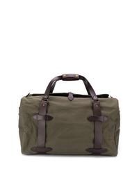 Bolsa de viaje de lona verde oliva de Filson