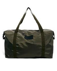 Bolsa de viaje de lona verde oliva de Selected