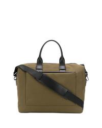 Bolsa de viaje de lona verde oliva de Troubadour