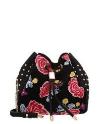 Bolsa Tote con print de flores Negra de River Island