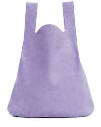 Bolsa tote de ante violeta claro de Maison Margiela