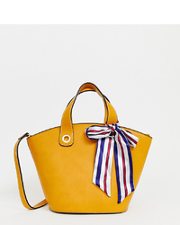Bolsa tote de cuero amarilla de Aldo