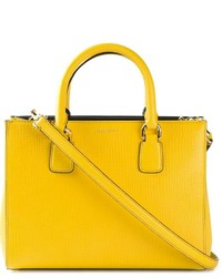 Bolsa tote de cuero amarilla de Dolce & Gabbana