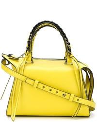 Bolsa tote de cuero amarilla de Elena Ghisellini