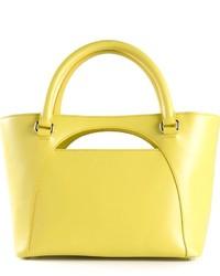 Bolsa tote de cuero amarilla de J.W.Anderson