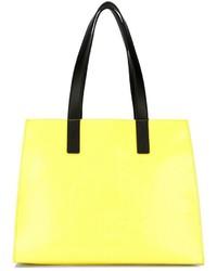 Bolsa tote de cuero amarilla de Kenzo