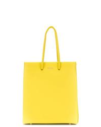 Bolsa tote de cuero amarilla de Medea