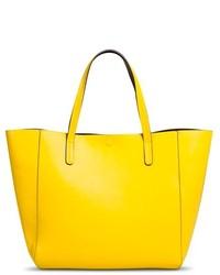 Bolsa Tote de Cuero Amarilla de Merona