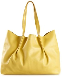 Bolsa tote de cuero amarilla de Nina Ricci