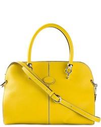 Bolsa tote de cuero amarilla de Tod's