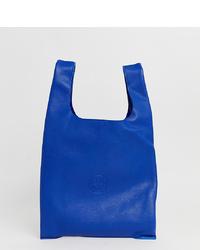 Bolsa tote de cuero azul de Hill & Friends