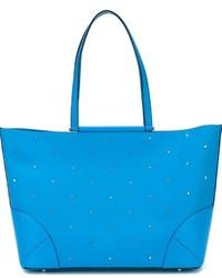 Bolsa Tote de Cuero Azul de MCM