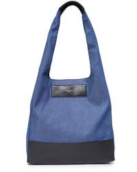Bolsa tote de cuero azul de Rag & Bone