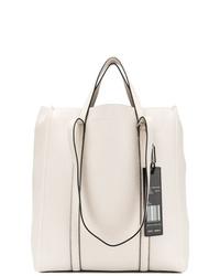 Bolsa tote de cuero blanca de Marc Jacobs