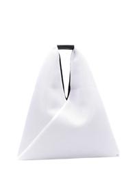 Bolsa tote de cuero blanca de MM6 MAISON MARGIELA