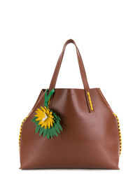 Bolsa tote de cuero con adornos marrón de P.A.R.O.S.H.
