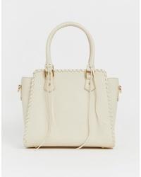 Bolsa tote de cuero en beige de Yoki Fashion