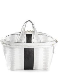 Bolsa tote de cuero en blanco y negro de Givenchy