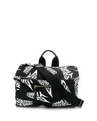 Bolsa tote de cuero en negro y blanco de Givenchy