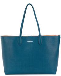 Bolsa tote de cuero en verde azulado de Alexander McQueen