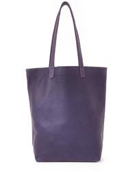 Bolsa tote de cuero en violeta de Baggu