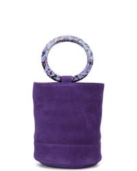 Bolsa tote de cuero en violeta de Simon Miller