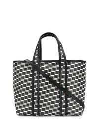Bolsa tote de cuero estampada en negro y blanco de Pierre Hardy
