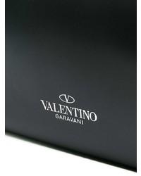 Bolsa Tote de Cuero Estampada Negra y Blanca de Valentino
