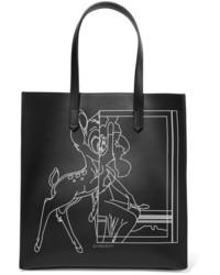 Bolsa Tote de Cuero Estampada Negra de Givenchy