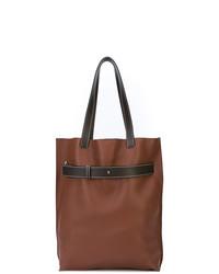 Bolsa tote de cuero marrón de Loewe