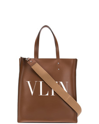 Bolsa tote de cuero marrón de Valentino