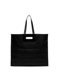 Bolsa tote de cuero negra de Alexander McQueen
