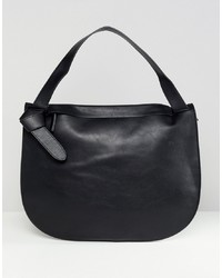 Bolsa Tote de Cuero Negra de French Connection